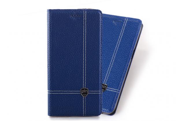 Фирменный премиальный элитный чехол-книжка из качественной импортной кожи с мульти-подставкой и визитницей для ASUS ZenFone 4 Selfie Pro ZD552KL  синий