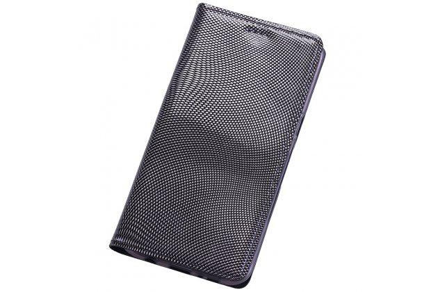 Фирменный премиальный роскошный эксклюзивный чехол из натуральной кожи змеи питона для ASUS ZenFone 4 Selfie Pro ZD552KL серебристого цвета