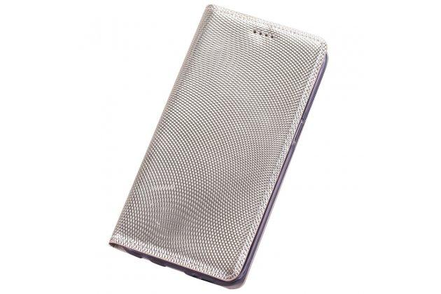 Фирменный премиальный роскошный эксклюзивный чехол из натуральной кожи змеи питона для ASUS ZenFone 4 Selfie Pro ZD552KL золотого цвета
