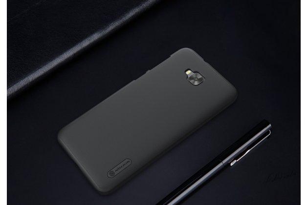 Фирменная задняя панель-крышка-накладка из тончайшего и прочного пластика для ASUS ZenFone 4 Selfie ZD553KL черная