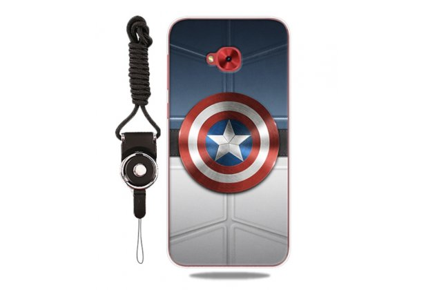Фирменная роскошная задняя панель-чехол-накладка  из мягкого силикона с безумно красивым расписным 3D рисунком на ASUS ZenFone 4 Selfie ZD553KL тематика Железный человек