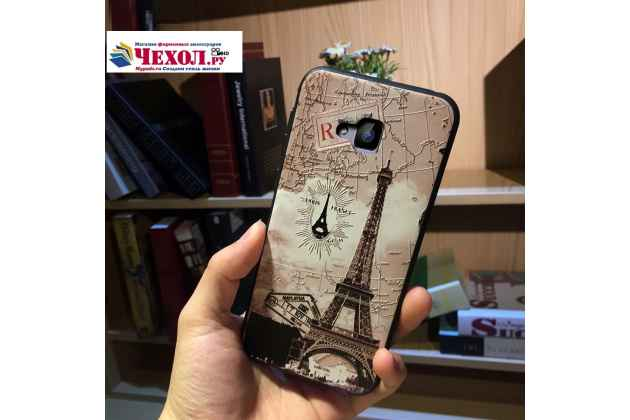 Фирменная роскошная задняя панель-чехол-накладка  из мягкого силикона с безумно красивым расписным 3D рисунком на ASUS ZenFone 4 Selfie ZD553KL тематика Париж