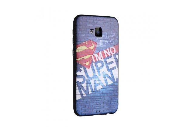 Фирменная роскошная задняя панель-чехол-накладка  из мягкого силикона с безумно красивым расписным 3D рисунком на ASUS ZenFone 4 Selfie ZD553KL тематика Superman