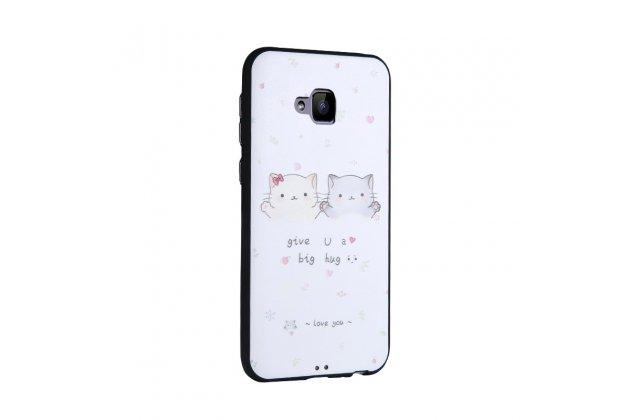Фирменная роскошная задняя панель-чехол-накладка  из мягкого силикона с безумно красивым расписным 3D рисунком на ASUS ZenFone 4 Selfie ZD553KL тематика Любовь