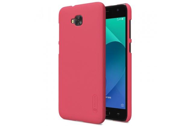 Фирменная задняя панель-крышка-накладка из тончайшего и прочного пластика для ASUS ZenFone 4 Selfie ZD553KL красная