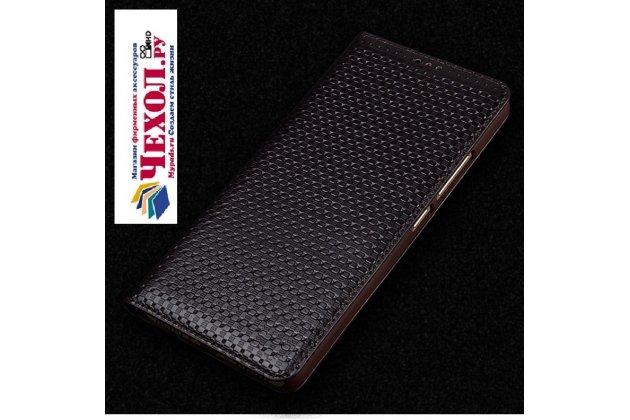 Фирменный роскошный эксклюзивный чехол из натуральной кожи для ASUS ZenFone 4 ZE554KL (Android 7.0 (Nougat)/MSM8956 Plus 2200MHz/5.5) коричневый