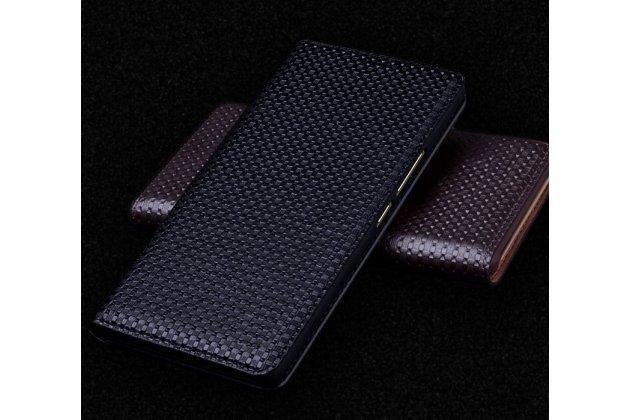Фирменный роскошный эксклюзивный чехол из натуральной кожи для ASUS ZenFone 4 ZE554KL (Android 7.0 (Nougat)/MSM8956 Plus 2200MHz/5.5) черный
