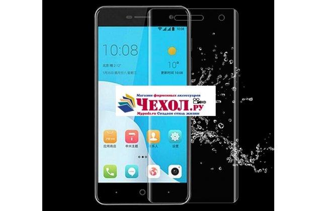 Фирменная оригинальная 3D защитная пленка с закругленными краями которое полностью закрывает экран для телефона ASUS ZenFone 4 ZE554KL глянцевая