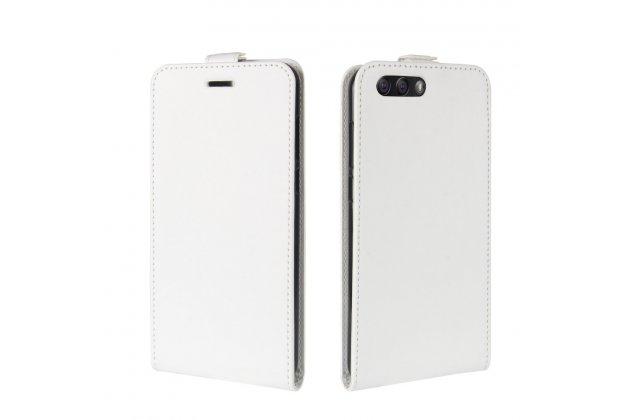 Фирменный оригинальный вертикальный откидной чехол-флип для ASUS ZenFone 4 ZE554KL белый из натуральной кожи Prestige