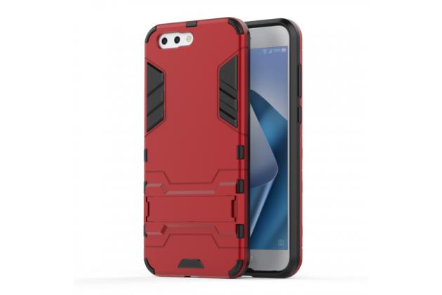 Противоударный усиленный ударопрочный фирменный чехол-бампер-пенал для ASUS ZenFone 4 ZE554KL красный