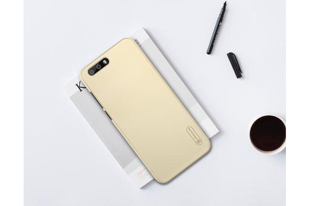 Фирменная задняя панель-крышка-накладка из тончайшего и прочного пластика для ASUS ZenFone 4 ZE554KL золотая