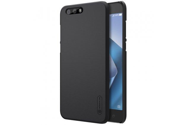 Фирменная задняя панель-крышка-накладка из тончайшего и прочного пластика для ASUS ZenFone 4 ZE554KL черная