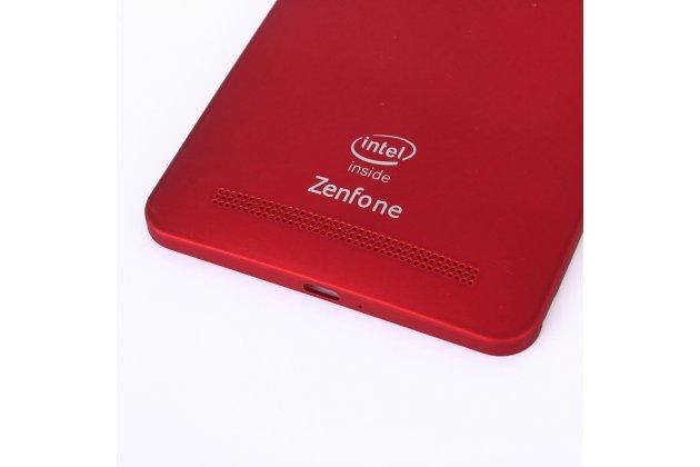 Родная оригинальная задняя крышка-панель которая шла в комплекте для ASUS Zenfone 6 A600CG/A601CG красная