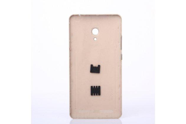 Родная оригинальная задняя крышка-панель которая шла в комплекте для ASUS Zenfone 6 A600CG/A601CG золотая