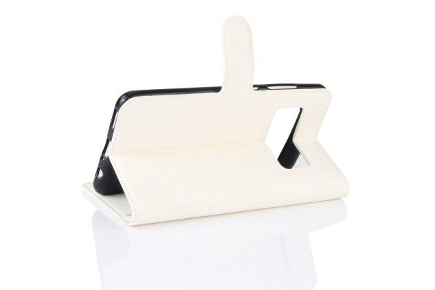 Фирменный чехол-книжка из качественной импортной кожи с мульти-подставкой застёжкой и визитницей для ASUS ZenFone AR ZS571KL белый