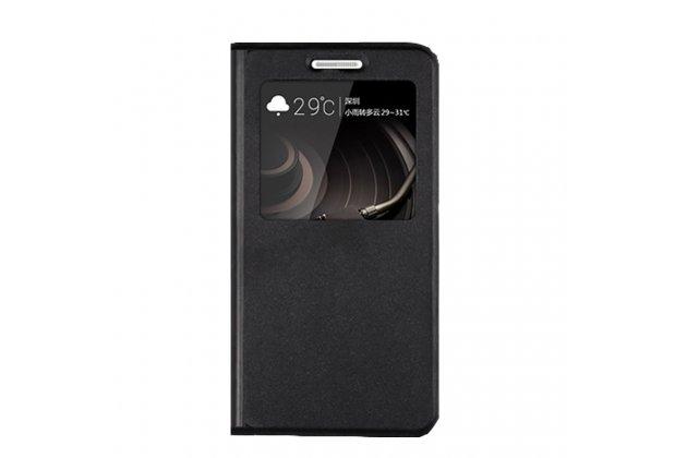 Фирменный оригинальный чехол-книжка из качественной импортной кожи с окном для входящих вызовов  для ASUS ZenFone AR ZS571KL  черный