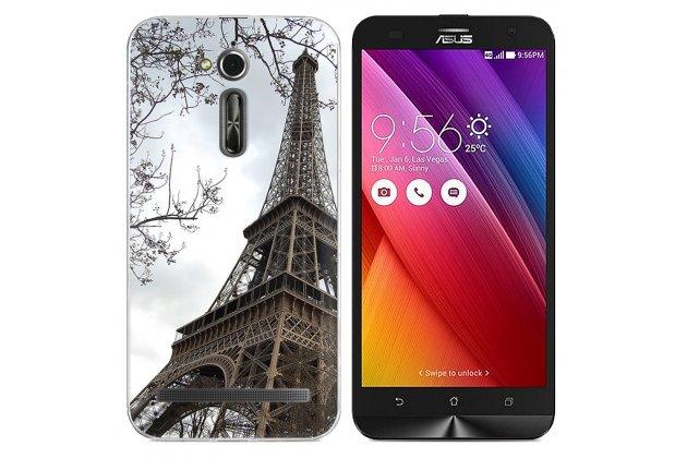 Фирменная уникальная задняя панель-крышка-накладка из тончайшего силикона для Asus Zenfone Go ZB500KL/ZB500KG 5.0 с объёмным 3D рисунком тематика Париж