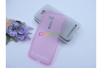 Фирменная ультра-тонкая полимерная из мягкого качественного силикона задняя панель-чехол-накладка для Asus Zenfone Go ZB500KL/ZB500KG розовая