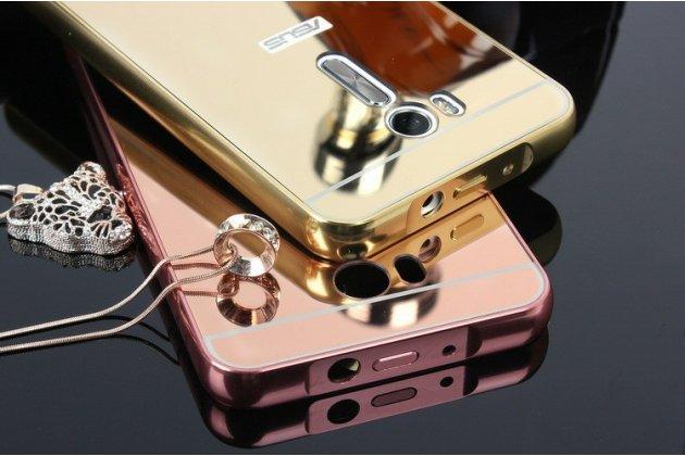 Фирменная металлическая задняя панель-крышка-накладка из тончайшего облегченного авиационного алюминия для ASUS ZenFone Go ZB552KL 5.5 (X007D) розовое золото
