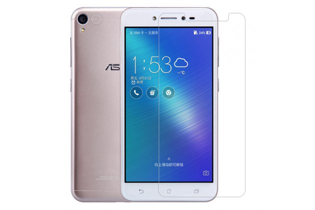Фирменная оригинальная защитная пленка для телефона ASUS ZenFone Live ZB501KL глянцевая