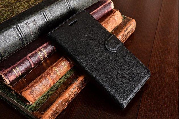 Фирменный чехол-книжка из качественной импортной кожи с мульти-подставкой застёжкой и визитницей для ASUS ZenFone Live ZB501KL черный