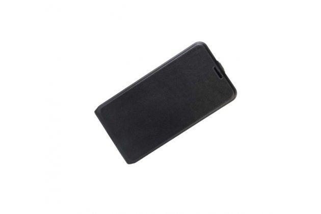 Фирменный оригинальный вертикальный откидной чехол-флип для ASUS ZenFone Live ZB501KL черный из натуральной кожи Prestige