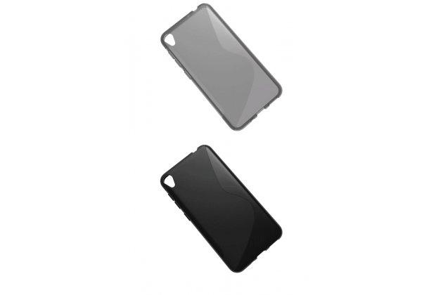 Фирменная ультра-тонкая полимерная из мягкого качественного силикона задняя панель-чехол-накладка для ASUS ZenFone Live ZB501KL Серая с волной