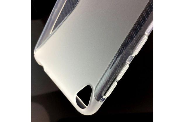 Фирменная ультра-тонкая полимерная из мягкого качественного силикона задняя панель-чехол-накладка для ASUS ZenFone Live ZB501KL Прозрачная с волной