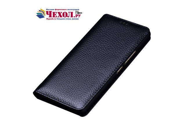 Фирменный чехол-книжка из качественной импортной кожи для ASUS ZenFone Live ZB501KL черный