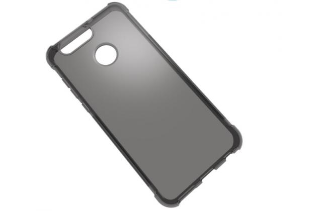 Фирменная ультра-тонкая полимерная из мягкого качественного силикона задняя панель-чехол-накладка для ASUS Zenfone Max Plus (M1) X018DC/ ZB570TL 5.7 серая