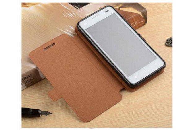 Фирменный чехол-книжка водоотталкивающий с мульти-подставкой для ASUS Zenfone Max Plus (M1) X018DC/ ZB570TL 5.7 коричневый