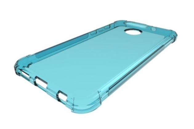 Фирменная ультра-тонкая полимерная из мягкого качественного силикона задняя панель-чехол-накладка для ASUS Zenfone Max Plus (M1) X018DC/ ZB570TL 5.7 голубая