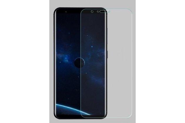 Фирменная оригинальная 3D защитная пленка с закругленными краями которое полностью закрывает экран для телефона ASUS Zenfone Max Plus (M1) X018DC/ ZB570TL 5.7 глянцевая