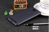Фирменная ультра-тонкая полимерная из мягкого качественного силикона задняя панель-чехол-накладка для Asus Zenfone Max ZC550KL/ 2 MAX 5.5 серая