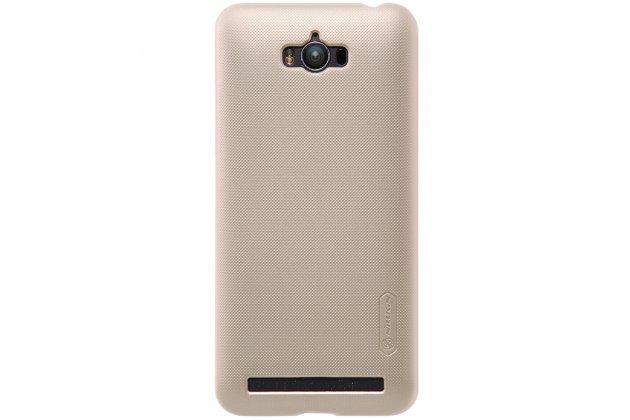 Фирменная задняя панель-крышка-накладка из тончайшего и прочного пластика для Asus Zenfone Max ZC550KL/ 2 MAX 5.5 золотая