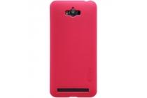 Фирменная задняя панель-крышка-накладка из тончайшего и прочного пластика для Asus Zenfone Max ZC550KL/ 2 MAX 5.5 красная