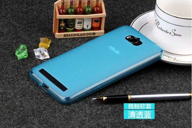 Фирменная ультра-тонкая полимерная из мягкого качественного силикона задняя панель-чехол-накладка для Asus Zenfone Max ZC550KL/ 2 MAX 5.5 голубая