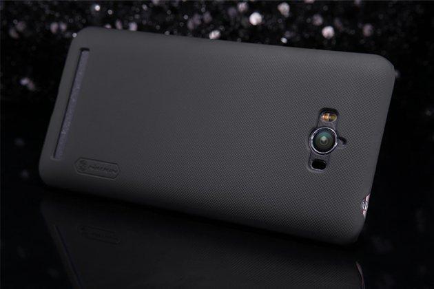 Фирменная задняя панель-крышка-накладка из тончайшего и прочного пластика для Asus Zenfone Max ZC550KL/ 2 MAX 5.5 черная
