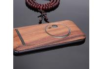 Фирменная оригинальная деревянная из натурального бамбука задняя панель-крышка-накладка для ASUS ZenFone Zoom ZX551ML / ZX550ML коричневая