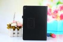 Фирменный чехол-обложка с подставкой для ASUS ZenPad 3s 10 / ASUS ZenPad 10 Z500M 9.7 черный кожаный