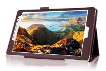 Фирменный чехол-обложка с подставкой для ASUS ZenPad Z8 Z581KL 7.9 коричневый кожаный