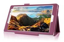 Фирменный чехол-обложка с подставкой для ASUS ZenPad Z8 Z581KL 7.9 фиолетовый кожаный