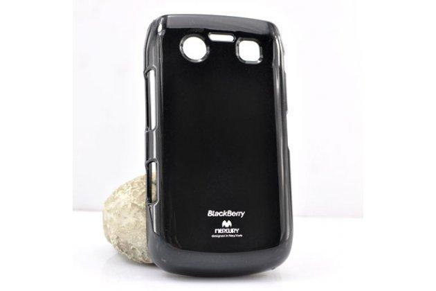 Фирменная ультра-тонкая полимерная из мягкого качественного силикона задняя панель-чехол-накладка для BlackBerry Bolt 9700 черная