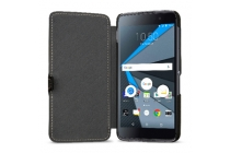 Фирменный умный премиальный элитный чехол-книжка из качественной импортной кожи с функцией засыпания для BlackBerry Neon/ BlackBerry DTEK50 черный