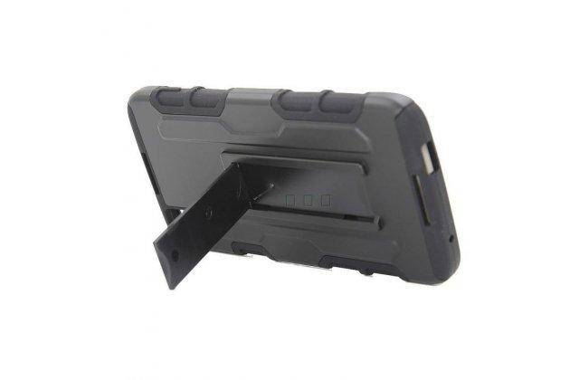 Противоударный усиленный ударопрочный фирменный чехол-бампер-пенал для BlackBerry Neon/ BlackBerry DTEK50 черный