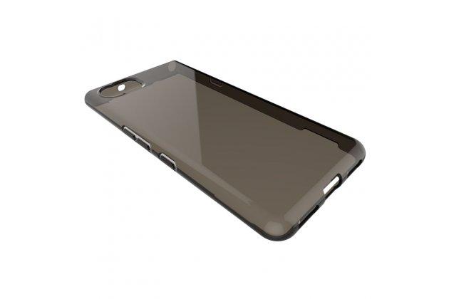 Фирменная задняя панель-крышка-накладка из тончайшего и прочного пластика для BlackBerry KEYone/ DTEK70 черная