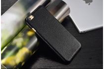 Фирменная премиальная элитная крышка-накладка из тончайшего прочного пластика и качественной импортной кожи для BlackBerry Leap Z20  Ретро под старину черная