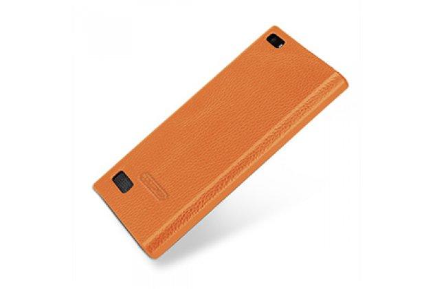 Фирменная премиальная элитная крышка-накладка из тончайшего прочного пластика и качественной импортной кожи для BlackBerry Leap Z20  Ретро под старину коричневая