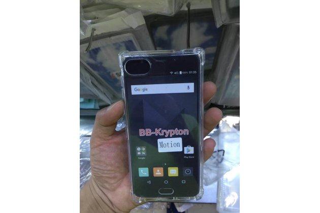 Фирменная ультра-тонкая полимерная из мягкого качественного силикона задняя панель-чехол-накладка для BlackBerry Motion / BlackBerry Krypton прозрачная