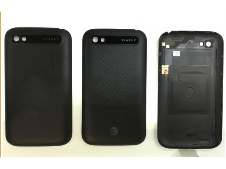 Родная оригинальная задняя крышка-панель которая шла в комплекте для BlackBerry Q20 Classic черная..